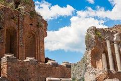 Taormina - Greek amphiteatre Stock Photography