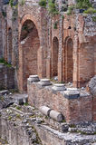 Taormina greek amphitheater in Sicily Italy Royalty Free Stock Image