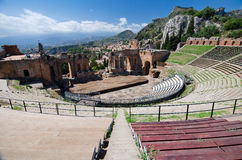 Taormina - The Greek Theater Royalty Free Stock Photography