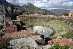 Taormina Greek theatre Royalty Free Stock Photography