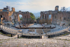 Taormina Greek Theatre, Sicily, Italy Stock Image