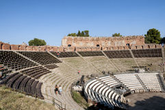 Taormina Greek Theatre, Sicily, Italy Stock Images