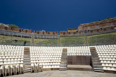 Taormina griechisch-römisches Theater Lizenzfreies Stockbild