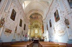 Taormina, interno della chiesa di San Giuseppe fotografia stock libera da diritti