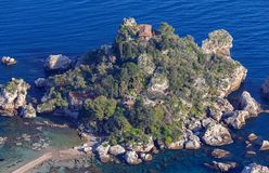 Taormina Isola Bella ö royaltyfria foton