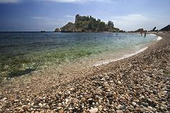 taormina isola bella стоковое фото