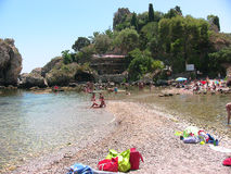 Taormina Isola Bella de la plage 2 image stock
