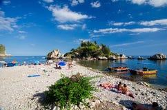 Taormina - Isola Bella Stock Images