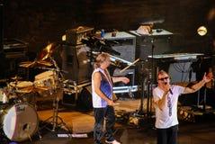 Taormina, Italia - 29 luglio 2010: Il rock band famoso Deep Purple in anfiteatro greco-romano fotografia stock libera da diritti