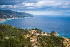 Taormina, Italy - Panoramic view of Taormina, Mazzaro Royalty Free Stock Photography