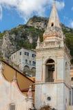 Taormina Kerk van St Giuseppe stock afbeeldingen
