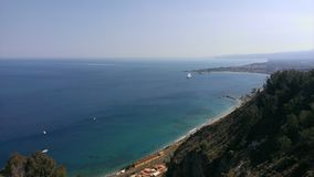 From Taormina with love. A spectacular view from taormina royalty free stock photos