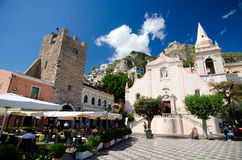Taormina - Medieval Town stock photo