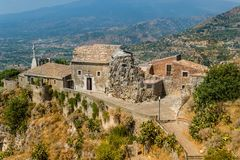 Taormina old church view Stock Images