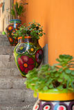 Taormina painted vases, Sicily, Italy Royalty Free Stock Images