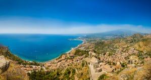 Taormina panorama Royalty Free Stock Images