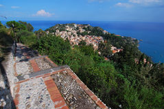 Taormina panorama (Sicily) Royalty Free Stock Photo