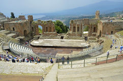 Taormina Roman Theatre Stock Photo