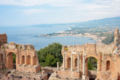 Taormina's theater in Sicily Royalty Free Stock Photography