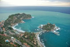 Taormina seascape Italy Stock Images