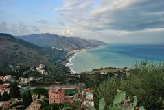 Taormina seascape Italy Royalty Free Stock Photography