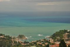 Taormina seascape Italy Stock Images