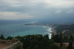 Taormina seascape Italy Royalty Free Stock Image