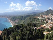 Taormina, Sicília foto de stock