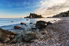 Taormina, Sicília: Isola Bella Fotos de Stock