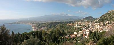 Taormina, Sicilië Stock Afbeeldingen