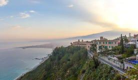 Taormina, Sicilia Italia Fotografia Stock Libera da Diritti