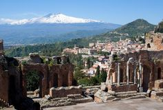 Taormina, Sicilia, Italia Imágenes de archivo libres de regalías
