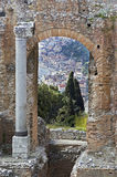 Taormina  in Sicily Italy Stock Photography