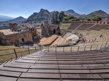 Taormina, Sicily/Italy - 13.06.2017 - Ancient Greek Theatre - Popular Tourist Attraction Stock Photos