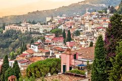 Taormina in Sicily, Italy Stock Photo
