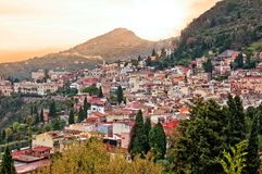 Taormina in Sicily, Italy Royalty Free Stock Images