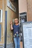 Taormina, Sicily Włochy, Wrzesień, - 09, 2013: Po drugie wąski s Zdjęcie Stock