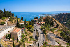 Taormina, Sicily, Wonderful view of seaside. Royalty Free Stock Photography