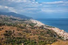 Taormina, Sicily, Wonderful view of seaside. Stock Images