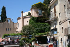 Taormina square Stock Photography