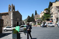 Taormina square Royalty Free Stock Image