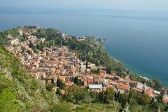 Taormina Stadt in Sizilien, Italien Stockfoto