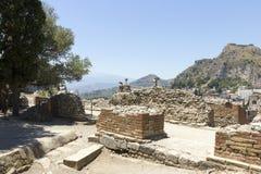 taormina teatr grecki Zdjęcie Stock