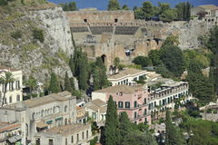 Taormina, Teatro Greco Stock Photo