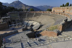 Taormina, Teatro Greco Stock Photos