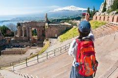 Taormina-Theater Lizenzfreie Stockfotografie