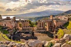 Taormina-Theater Lizenzfreies Stockbild