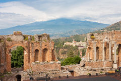 Taormina theater Royalty Free Stock Photos