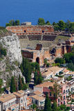 Taormina theater, Sicily, Italy Royalty Free Stock Photos