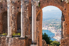 Taormina theater Stock Photography